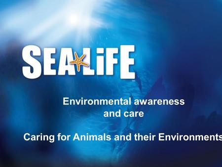 Environmental awareness and care Caring for Animals and their Environments.
