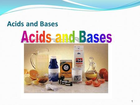 1 Acids and Bases. Topics to be covered Acids and Bases Arrhenius definition Bronsted-Lowry definition pH Strong vs weak acids Neutralization reactions.