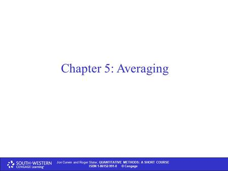 quantitative dissertation chapter 4