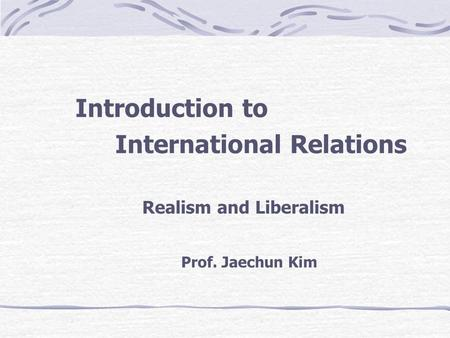 an analysis of the debate of relists and idealist The first great debate between idealism and realism grand theories of international relations slideshow 42748 by thomas  the analysis of international relations is .