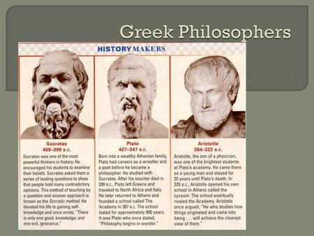 Greek Philosophers.