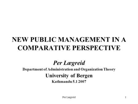 new public management theory pdf