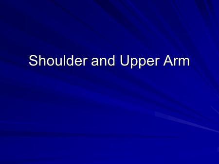 Shoulder and Upper Arm. Anatomy HumerusClavicleScapula –Projections of scapula Acromion process Coracoid process –Glenoid Of these, which is attached.
