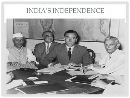 INDIA'S INDEPENDENCE. HINDU AND MUSLIM DIFFERENCES Muhammad Ali Jinnah (1876- 1948) and the Muslim League, feared a Hindu-majority India would.