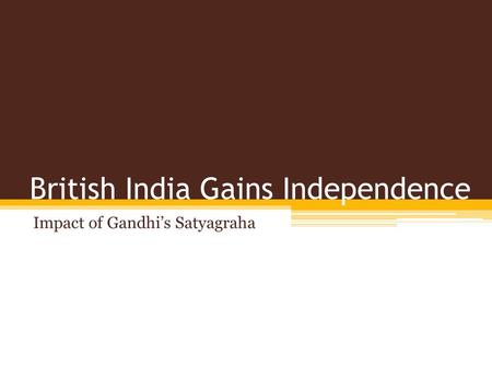 """gandhis impact """"thus god laid the foundations of my life in south africa and sowed the seed of fight for national self respect""""[1] ~mahatma gandhi, civil rights leader introduction mahatma gandhi took the idea of god and religion very dear to heart his hindu values became fully cemented in natal and these values."""