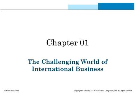 The Challenging World of International Business