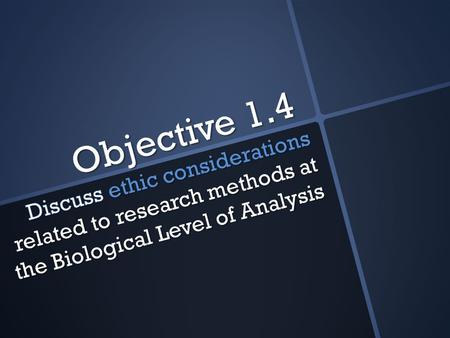 Objective 1.4. Objective 1.3 offer a considered and balanced review that includes a range of arguments, factors or hypotheses; opinions or conclusions.