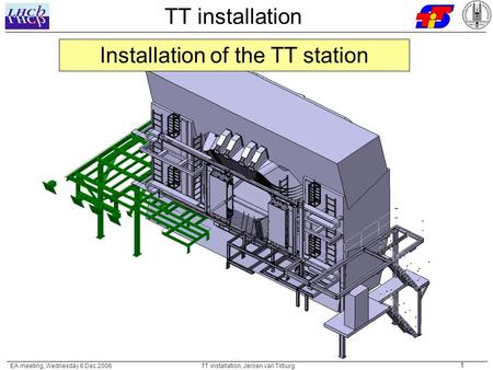 EA meeting, Wednesday 6 Dec 2006 TT installation, Jeroen van Tilburg 1 TT installation Installation of the TT station.