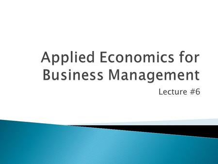 Short notes on managerial economics