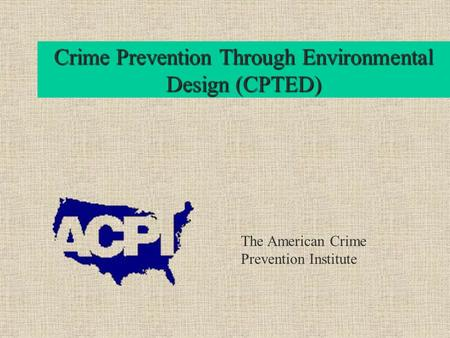 essay on crime prevention through environmental design