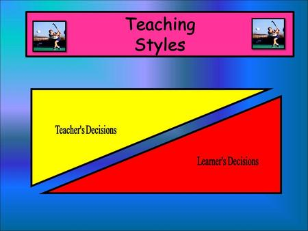 WE ARE LEARNING TO... Understand the different types of teaching styles and when each are most appropriate to use.