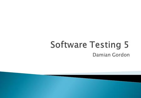 Damian Gordon. Requirements testing tools Static analysis tools Test design tools Test data preparation tools Test running tools - character-based, GUI.