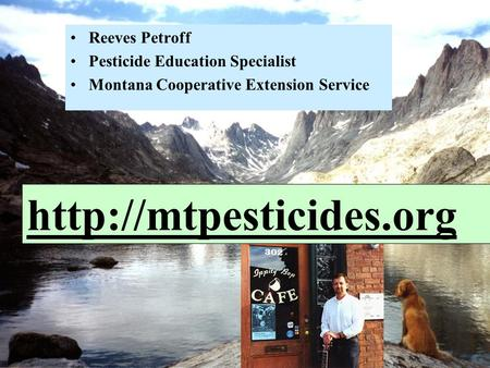 Reeves Petroff Pesticide Education Specialist
