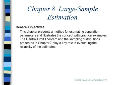 Chapter 8 Large-Sample Estimation