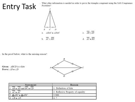 Entry Task. Warm Up Find the perimeter and area of each polygon. 1.a rectangle with base 14 cm and height 9 cm 2. a right triangle with 9 cm and 12 cm.