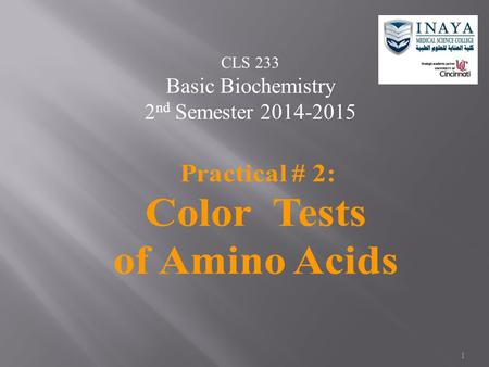 Color Tests of Amino Acids
