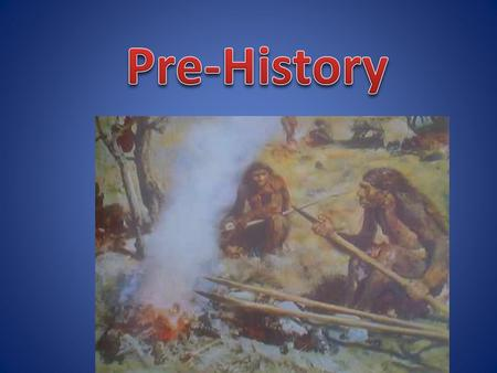 The time period before humans started keeping written records is called pre-history, or the prehistoric period. It lasted for a very long time, but we.