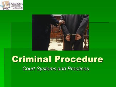 Criminal Procedure Court Systems and Practices. Copyright © Texas Education Agency, 2011. All rights reserved. Images and other multimedia content used.