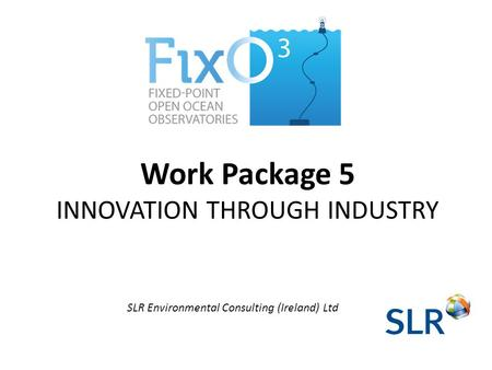 Work Package 5 INNOVATION THROUGH INDUSTRY SLR Environmental Consulting (Ireland) Ltd.