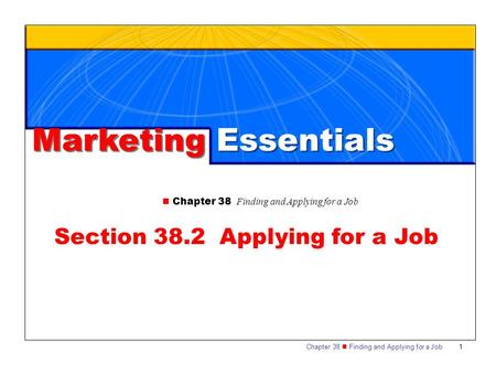 Section 38.2 Applying for a Job