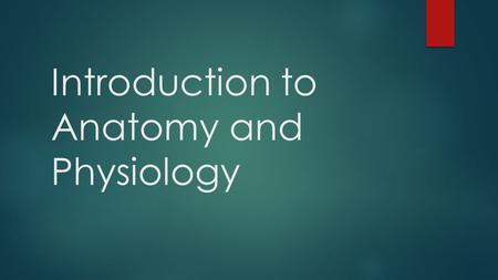 Introduction to Anatomy and Physiology. Definitions  Anatomy- the structure of body parts (also called morphology)  Physiology- the function of body.