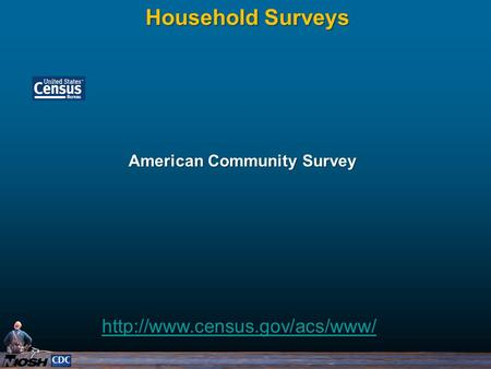 American Community Survey Household Surveys
