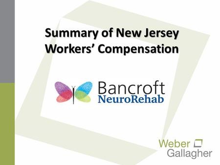 Summary of New Jersey Workers' Compensation. NEW JERSEY'S COMPUTERIZED SYSTEM Most Comprehensive In The United States (http://www.state.nj.us/labor/wc/Default.ht)