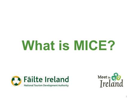 1 What is MICE?. 2 Business Tourism Business Events MICE (Meetings, Incentives, Conferences, Events)