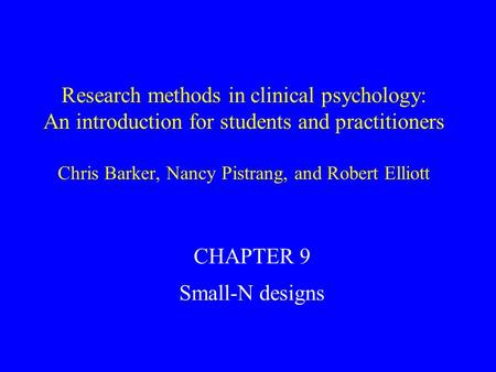 research methods chapter 9 q My understanding of action research and reflection i discuss the methods used in this research (chapter 9, p252) however, scores are.
