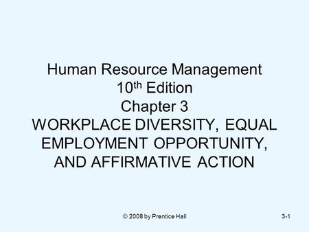 equal employment opportunity hrm Equal employment opportunity interview questions & answers for freshers & experienced candidates in hr department questions on equal employment opportunity in public employment, reasons for discrimination, disability discrimination in eeo law, race discrimination, eeo use in promotions, entry, exit etc useful for.