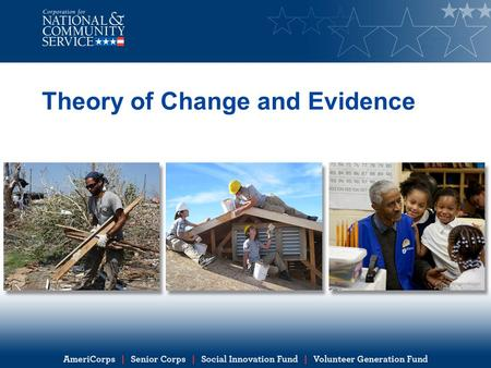 Theory of Change and Evidence