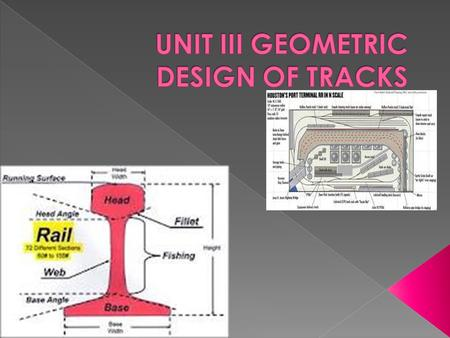 geometric design of railway track pdf