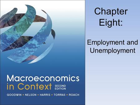 Chapter Eight: Employment and Unemployment. Paid Work and Unemployment in the United States.