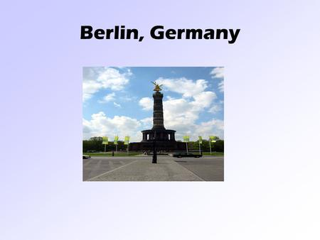 Berlin, Germany. Country Flag Adopted May 23, 1949.