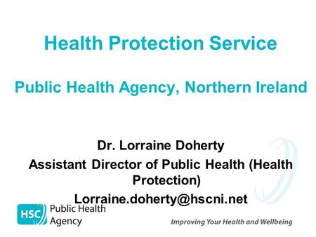 Health Protection Service Public Health Agency, Northern Ireland