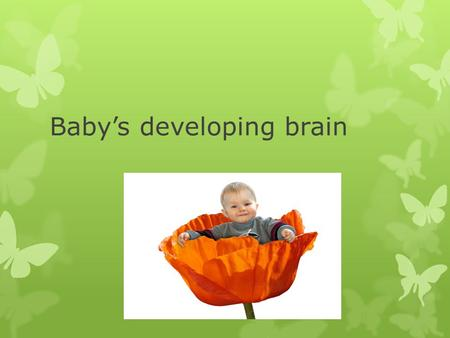 Baby's developing brain. Left and Right Brain – Don't write this  The human brain is divided into two hemispheres—the right brain and the left brain.