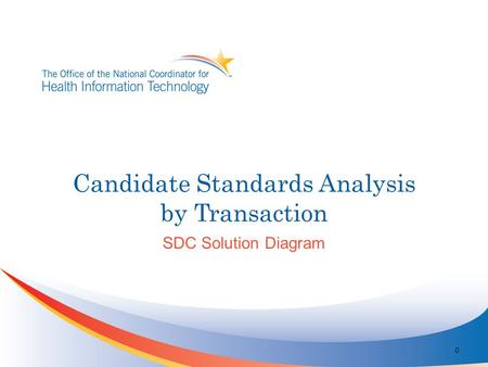 Candidate Standards Analysis by Transaction 0 SDC Solution Diagram.