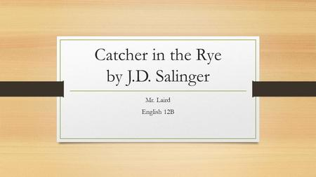 A Futile Task- the Catcher in the Rye