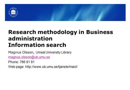 research methodology in business management