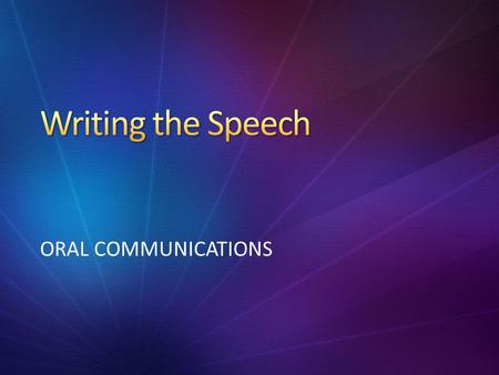 ORAL COMMUNICATIONS. 1.What are the components of an introductory paragraph? 2.How might they be different in a speech than in an essay?