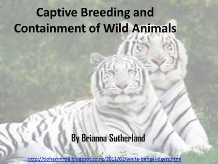 Captive Breeding and Containment of Wild Animals