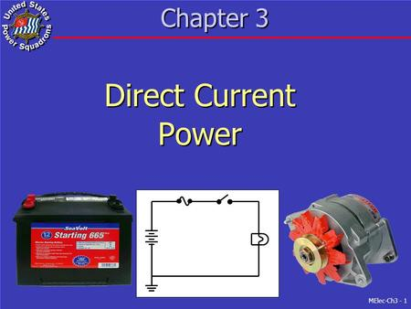 MElec-Ch3 - 1 Chapter 3 Direct Current Power Direct Current Power.