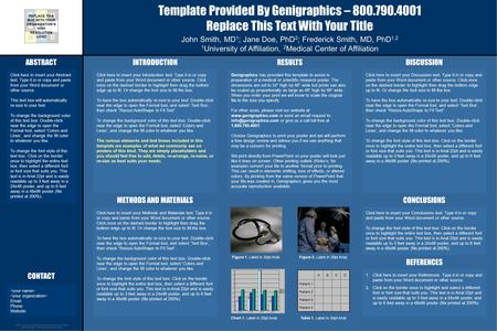 Research poster templates ppt video online download template provided by genigraphics 8007904001 replace this text with your title john smith toneelgroepblik Choice Image