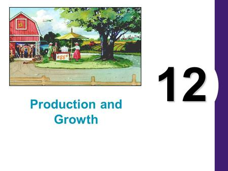 12 Production and Growth. A country's standard of living depends on its ability to produce goods and services.