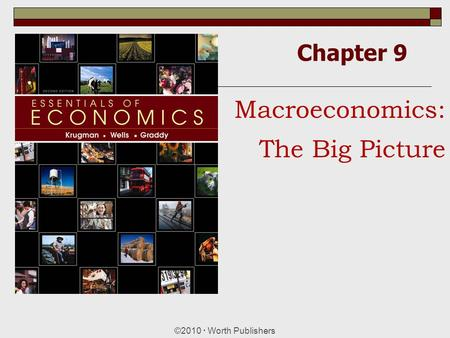 Chapter 9 ©2010  Worth Publishers Macroeconomics: The Big Picture.