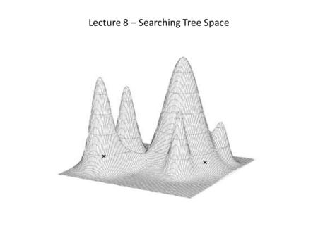 Lecture 8 – Searching Tree Space. The Search Tree.