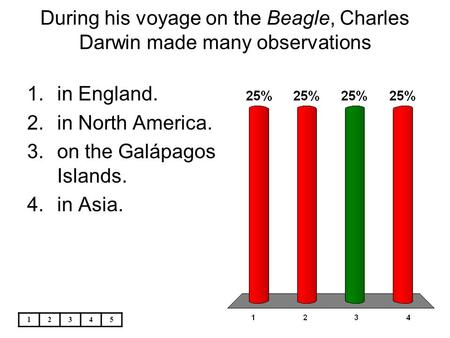 During his voyage on the Beagle, Charles Darwin made many observations