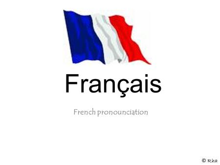 French pronounciation
