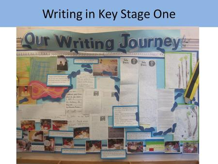 Writing in Key Stage One. How is writing taught in Key Stage One In Key Stage One writing is fully integrated into our topics. There begins to be a bigger.