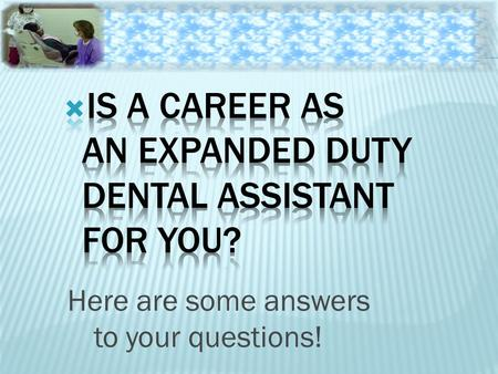 Here are some answers to your questions!.  Infectious disease transmission can pose significant concerns in the dental workplace  All dental healthcare.